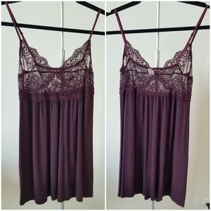 Only Hearts Lace Teddy Cami Purple Burgundy Small